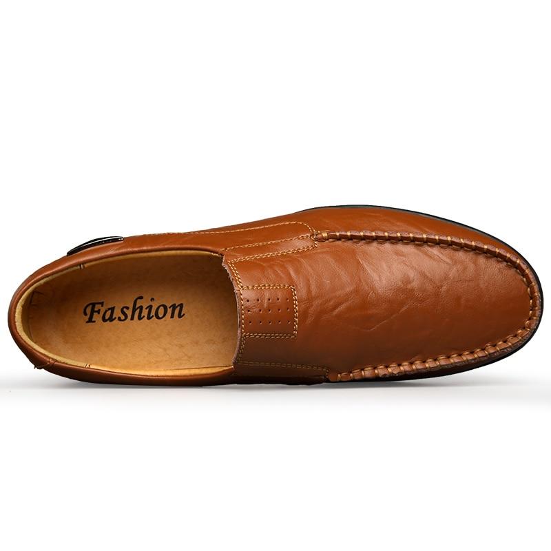 Couro Respirável Preto Sapatos Dos Homens Mocassins On Slip red 2019 Luxo Brown De 37 Plus Brown Casuais Marca 47 yellow Condução Size Preguiçosos Black vwx60w