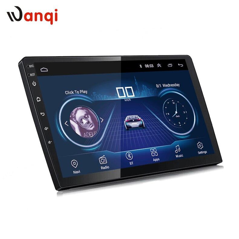 Wanqi 9 pulgadas o 10 pulgadas Android 8,1 Car GPS Multimedia Universal navegación unidad para cualquier coche modelos con slim back