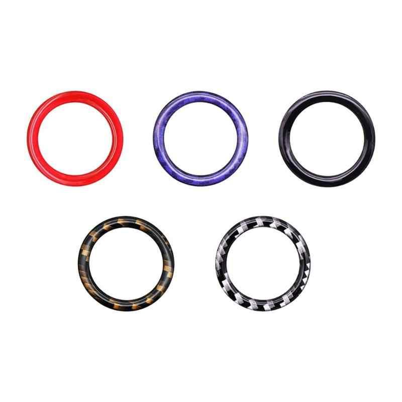 1Pcs เครื่องยนต์หยุดปุ่มตกแต่งแหวนสำหรับ BMW 1/3/5 Series E87 E90 e60 320 รถอุปกรณ์เสริม