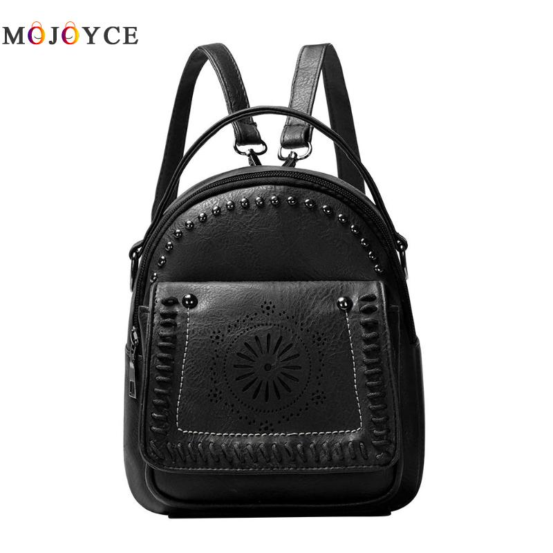 Fashion PU Leather Women Backpack Hollow Out Flower Teenage Girls School Travel Small Back pack Fashion PU Leather Women Backpack Hollow Out Flower Teenage Girls School Travel Small Back pack