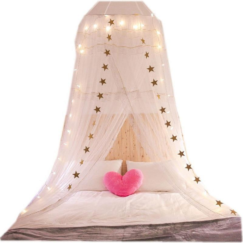 Fantasy Baby Crib Netting Princess Mosquito Net Children's Room Ceiling Double Lace Dome Mosquito Net Mosquito-proof Bedding title=