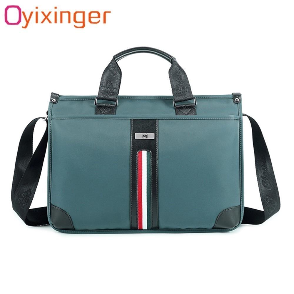 Oyixinger 2019 New Men's Briefcases Business Waterproof Oxford Men Single Shoulder Satchel Cross Bag Fits 14 Inch Laptop Handbag