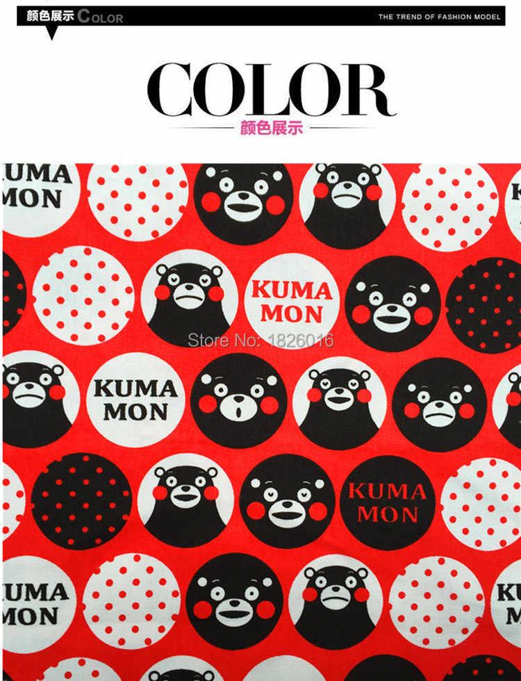 ZENGIA 45x145 cm oso estampado algodón lienzo tela Lino algodón impresión tellas tela para Patchwork/mantel DIY /cubierta del sofá/bolsas