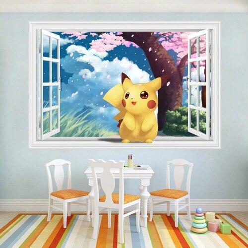 font-b-pokemon-b-font-pikachu-3d-window-view-wall-sticker-vinyl-decals-kids-room-decor-mural