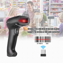 PROSTER 2.4GHz Wireless 1D Barcode Scanner with Stand Handheld USB Automatic Laser