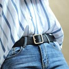 Hot Sale Square Buckles Belt Female Gold Deduction Jeans Wild Belts
