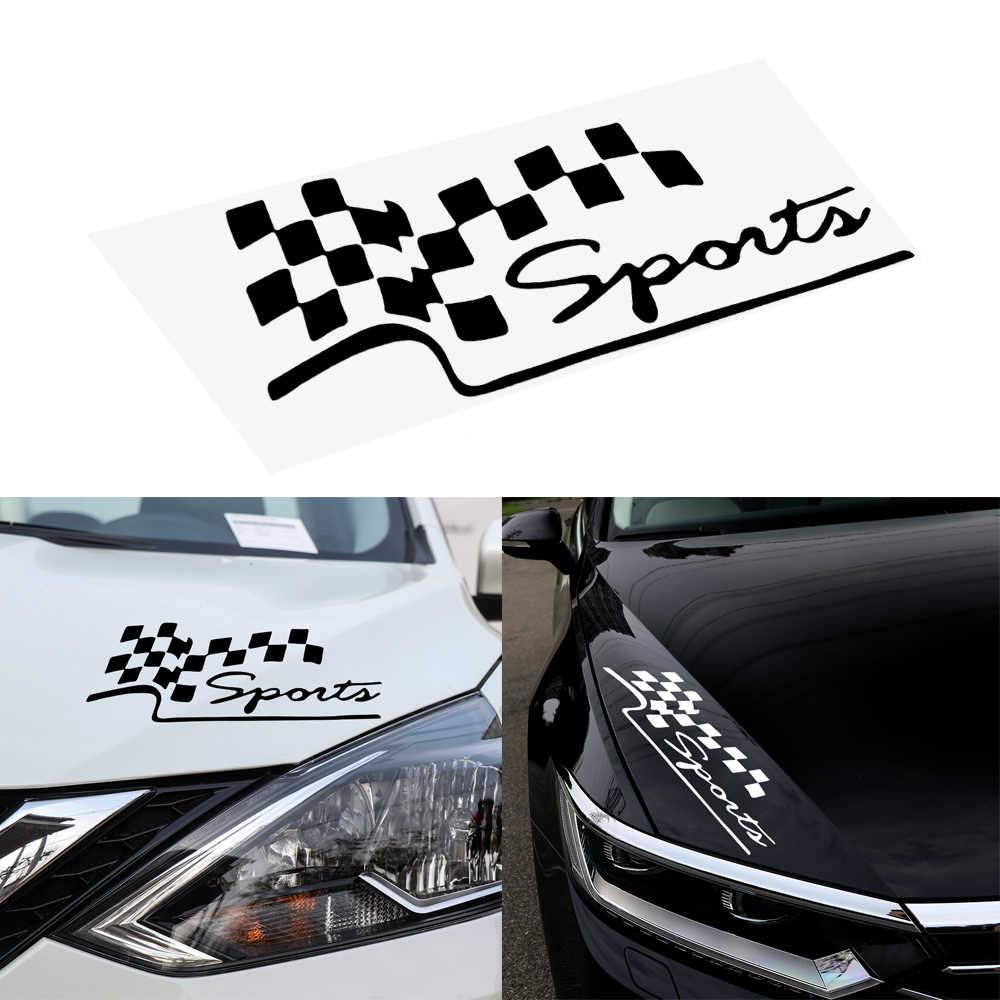 Adesivi per Auto Da Corsa di Sport Bandiera Autoadesivo Riflettente Dell'automobile Del Vinile-Styling Creativo Divertente Decalcomanie Auto Moto Car Decal