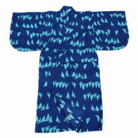 Children Japanese Traditional Costumes Kimono with Obi Traditional Samurai Robe Kids Kimono Yukata Boys Lounge Clothes H9062