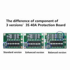 Image 3 - 3S 40A Bms 11.1V 12.6V 18650 Lithium Batterij Bescherming Boord Met Verbeteren/Evenwichtige Versie Voor Boor 40A Huidige Diy Kit Aokin
