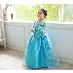 2019 Elza Cosplay Snow Queen Dresses Frozen Princess Anna Elsa Dress for Girls Costumes Kids Girls Clothing Party Set