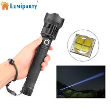 LED Tactical Flashlight XHP70 Highlight 2000Lumens zoomable Lanterna LED Aluminum 3 mode LED flashlight torch Power Display 30W