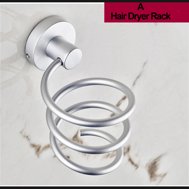 Zhangji Hair dryer combs Storage bathroom hardware set Bolt Inserting Dryers Holder dryer rack Bathroom Wall Holder in Bathroom Shelves from Home Improvement
