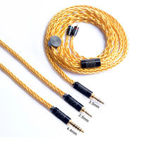 Okcsc MMCX Dechcable Headphone Cable 2 .5mm Balance Plug 3 .5mm /4 .4mm Jack 8 Cores 49 Wires Upgrade Cables For Sony Wm1z /Wm1a