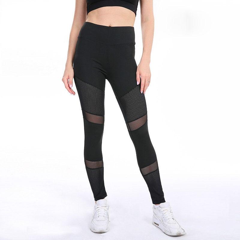 SVOKOR High Waist Mesh Splice Sexy   Leggings   Women Hollow Breathable Comfort Flexibility   Leggings   Solid Color Leggins Mujer