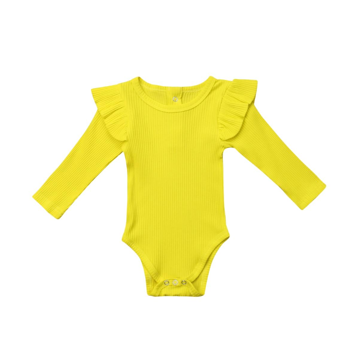 2018 Новое поступление новорожденных для маленьких мальчиков девочек Комбинезон длинный с длинными рукавами и круглым вырезом ползунки спло...