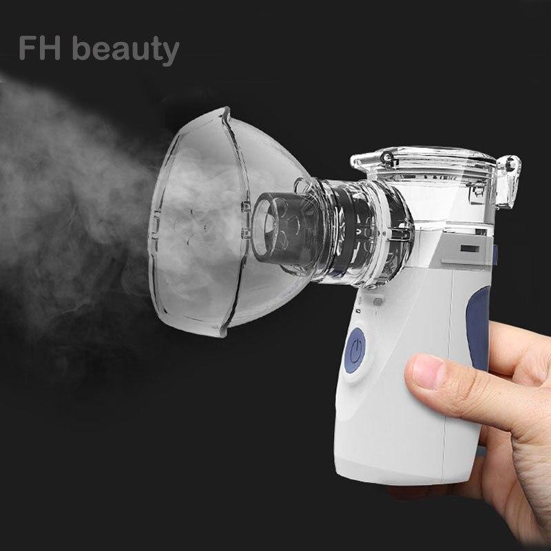 ヘルスケアミニハンドヘルドポータブル吸入ネブライザーサイレント超音波 Inalador Nebulizador 子供大人充電式 Automizer