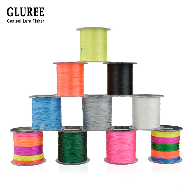 GLUREE 4 Stands PE Braided Fishing Lines100M 100% PE Multifilament Braided Wire 8-150LB 109Yards Smoother Mainline Fishing Line