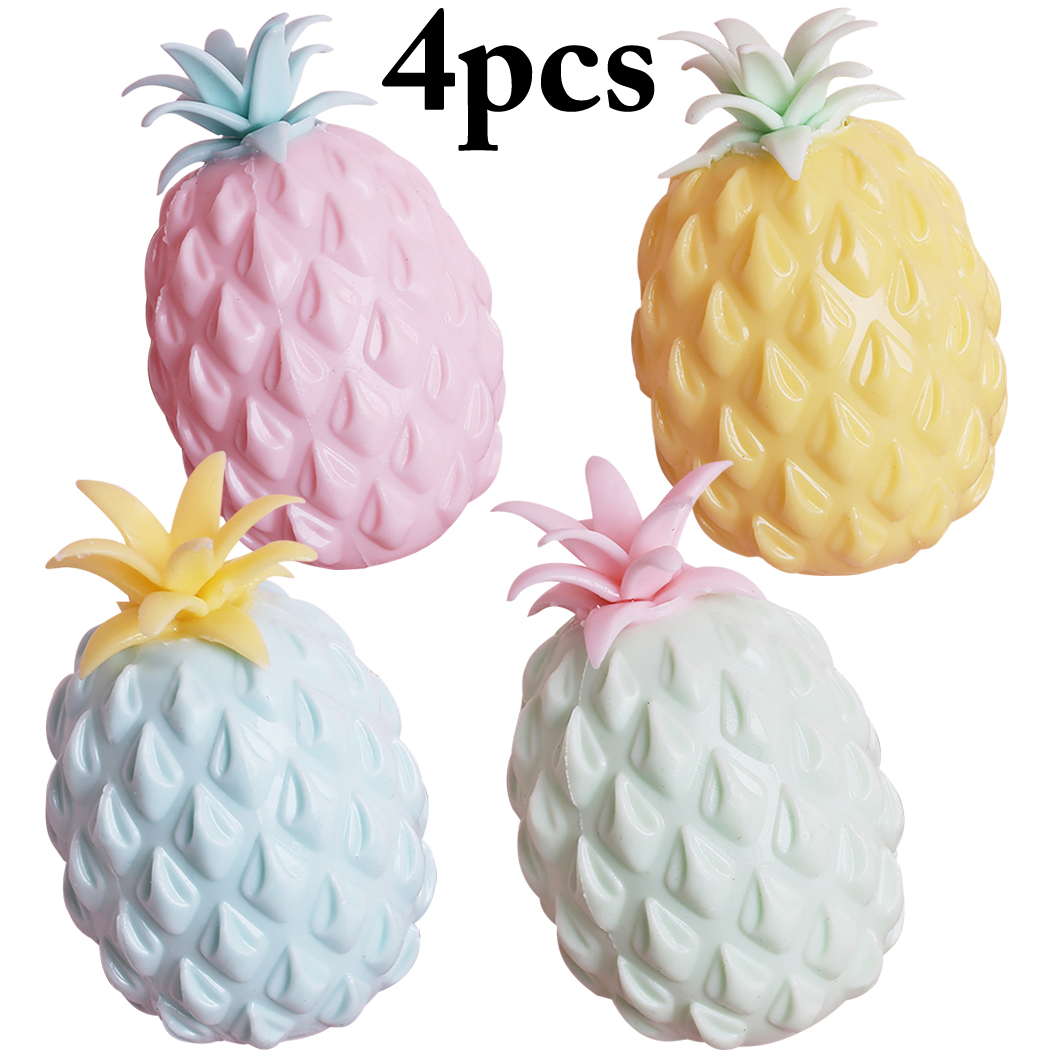 Permalink to 4PCS Squishy Pineapple Squishe Slow Rising Novelty Gag Toys Stress Relief Gadget Soft Practical Jokes Popular Toy