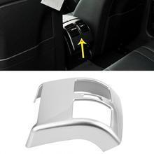 Серебряный Хром автомобильный интерьерный вентилятор заднего кондиционера розетка рамка Крышка Накладка для Mercedes Benz c-класс W204 2008-2013