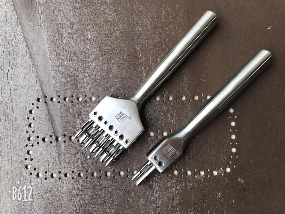 Zhizhongzhengzao,handmade Leather Tools,high-quality Many Hole Pricking Iron, Edge Of Decorative Leather,leather Craft Punching