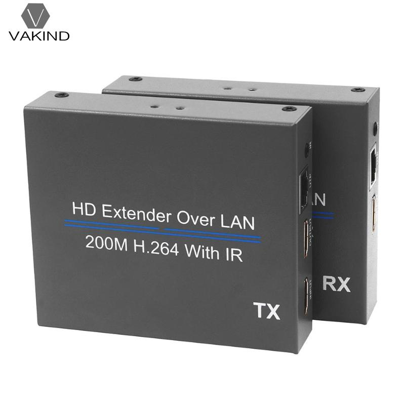 200m HDMI Over IP Network Extender with IR 1080P RJ45 CAT5E/6 Lan Splitter zy dt206c ip network 200m vga lan aux extender via cat5e cat6 1080p vga over tcp ip extender with stereo audio like vga splitter