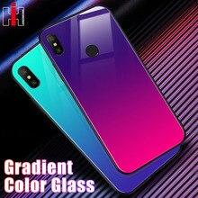 Gradient Glass Hard PC Case For Xiaomi Redmi Note 6 5 Pro 6