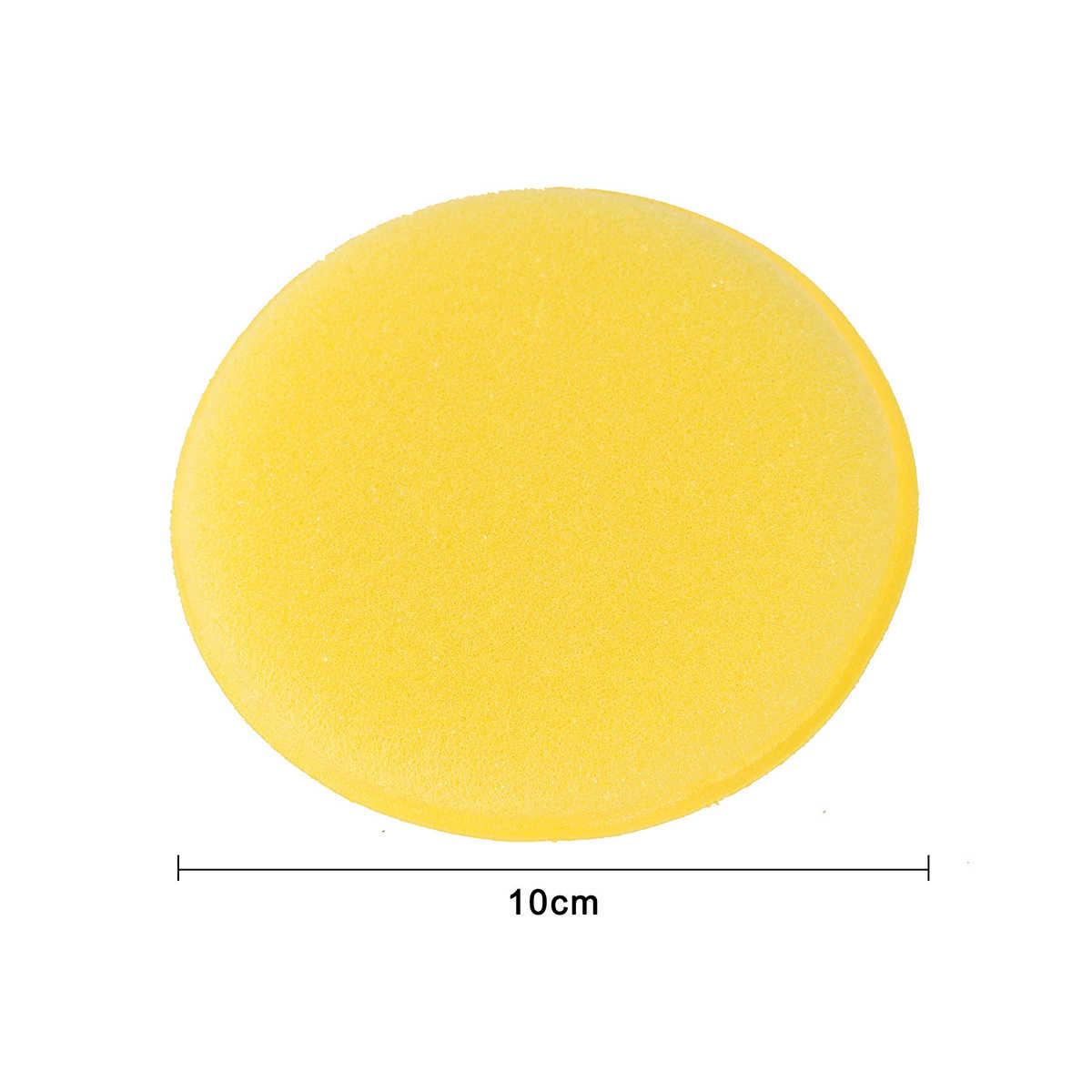 12 قطعة الصبح الأصفر شمع ملمع منصات رغوة الإسفنج قضيب السيارات السيارات الزجاج نظيفة