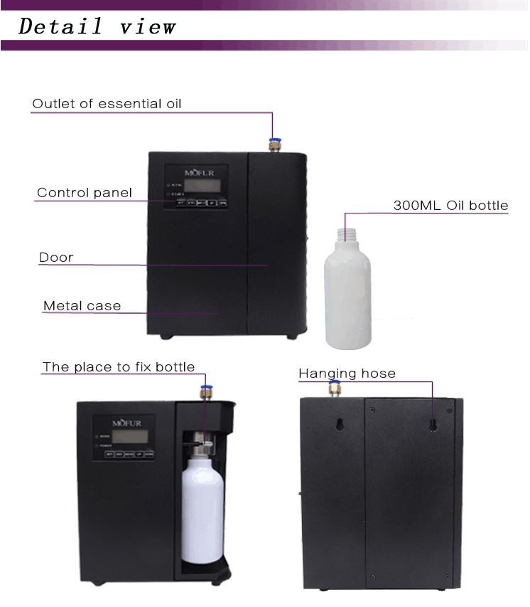 Led Panel Display Hotel Scent Diffuser Machine With 300m3