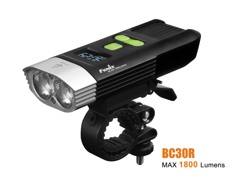 Fenix BC30R USB rechargeable bike light 1800 lumens
