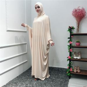 Image 3 - Femmes musulman aérien Jilbab Robe Hijab Abaya prière Farasha Robe islamique Maxi Robe manches chauve souris décontracté arabe Robe Ramadan