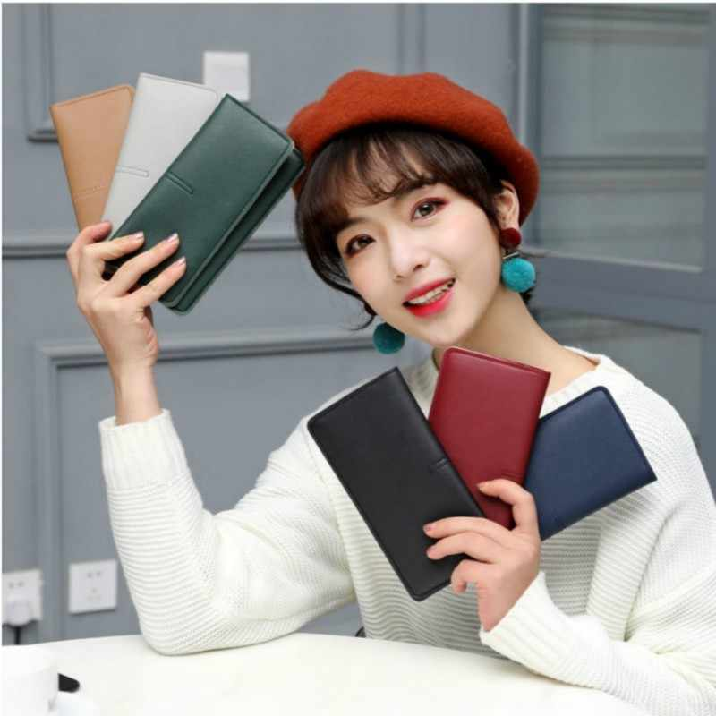 2019 Latest Leather Long Women Wallet Fashion Hasp Female Purse Designer Phone Card Holder Bag Ladies Clutch Money Coin Cartera