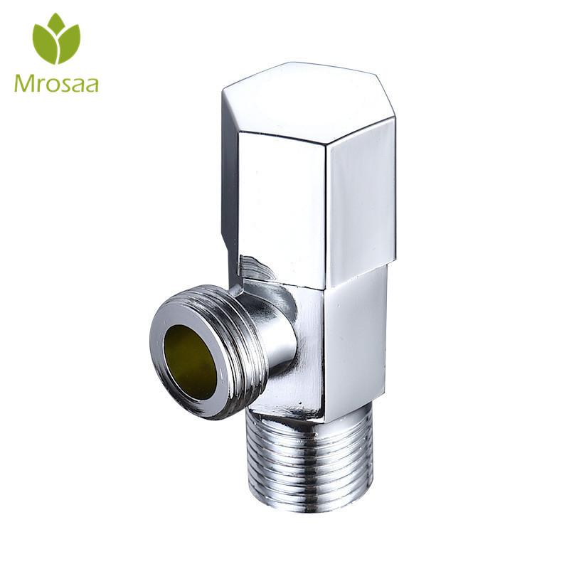 Universal Triangle Valve Hot And Cold Water Angle Valve Bathroom Accessories Electroplate Filling Valves For Toilet Water Heater