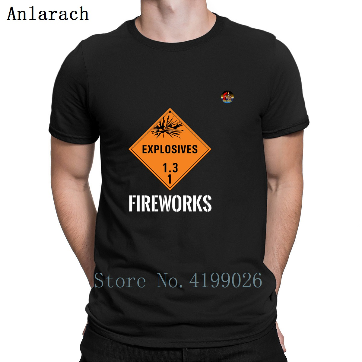 Amiable Explosives Fireworks Tshirts Tops Cotton Printed Gents Men's Tshirt New Original Summer Style Anlarach Interesting Excellent In Cushion Effect