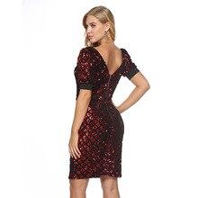 MUXU red sequin sexy dress patchwork pencil bodycon women clothing glitter kleider fashion sukienka clothes vestidos