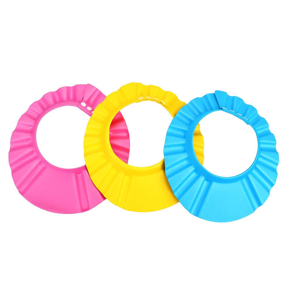 HOOMIN 子供保護ソフトキャップお風呂風呂シャワーキャップ帽子ベビーケアウォッシュ髪シールド調節可能なベビーシャンプーキャップ