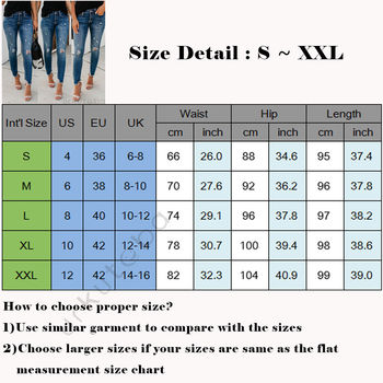 Women Stretch Ripped Distressed Skinny High Waist Denim Pants Shredded Jeans Trousers Slim Jeggings Laides Spring Autumn Wear 3