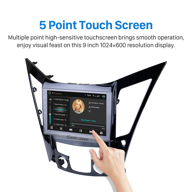 Image 3 - Seicane Android 8.1 9 inch HD Touchscreen DVD 2din car radio GPS Navi system For 2011 2012 2013 2014 2015 HYUNDAI Sonata i40 i45-in Car Multimedia Player from Automobiles & Motorcycles