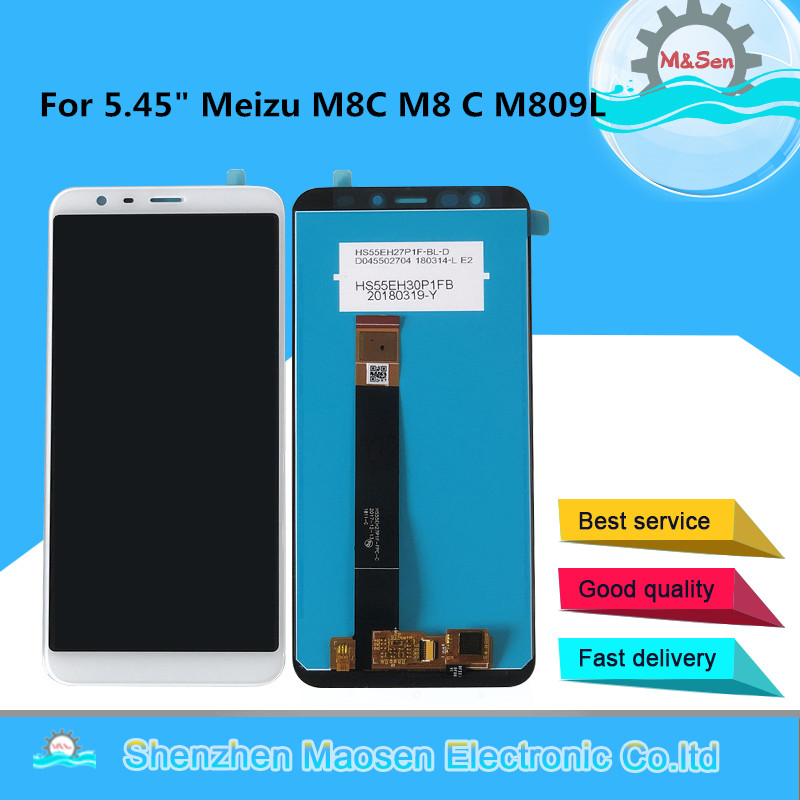 Original M&Sen For 5.45 Meizu M8C M8 C M809L LCD Screen Display+Touch Screen Panel Digitizer For Meizu M8C M809L DisplayOriginal M&Sen For 5.45 Meizu M8C M8 C M809L LCD Screen Display+Touch Screen Panel Digitizer For Meizu M8C M809L Display