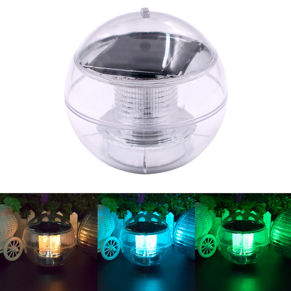 Security & Protection Solar Powered Color Changing Water Floating Ball Lamp Led Outdoor Underwater Light For Yard Pond Garden Pool Decoration Light Access Control Kits