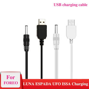 USB-кабель для зарядного устройства для Foreo Luna2 Luna3 Mini 2 Go Luxe Spa-массажер для очищения USB-шнур зарядного устройства