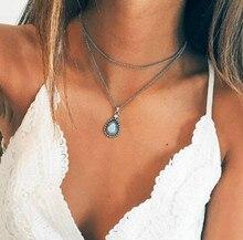 New Necklace Retro Drop Pendant Multilayer Set Jewelry Wholesale