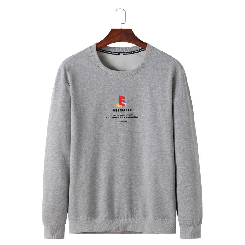 10xl 8xl 6xl 5xl 2019 printemps nouveau t-shirt à manches longues hommes lâche Fit lettre mode 100% pur coton t-shirt hommes hauts pull