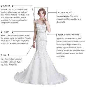 Image 5 - תחרה בת ים שמלות כלה 2020 אשליה חזור לטאטא רכבת אפליקציות צנועות גן שמלות הכלה Robe דה Mariee מותאם אישית