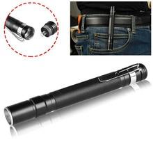 CASTNOO Mini Pocket Telescopic Zoom Portable Clip LED Flashlight Penlight Torch Light Pen Lamp for AAA easy carry