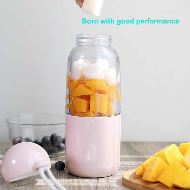Usb de Carregamento Portátil Espremedor de Frutas Liquidificador Elétrico Comida para Bebé Misturador Milkshake de Máquina Fabricante de Suco de Máquina Doméstica