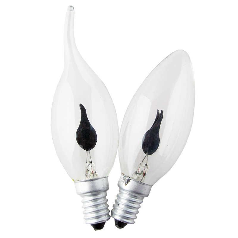 Nouveau rétro Edison Filament ampoule 3 W E27 E14 lumière LED ampoule tungstène roman bougie pointe lampe flamme lampe incandescente décor à la maison