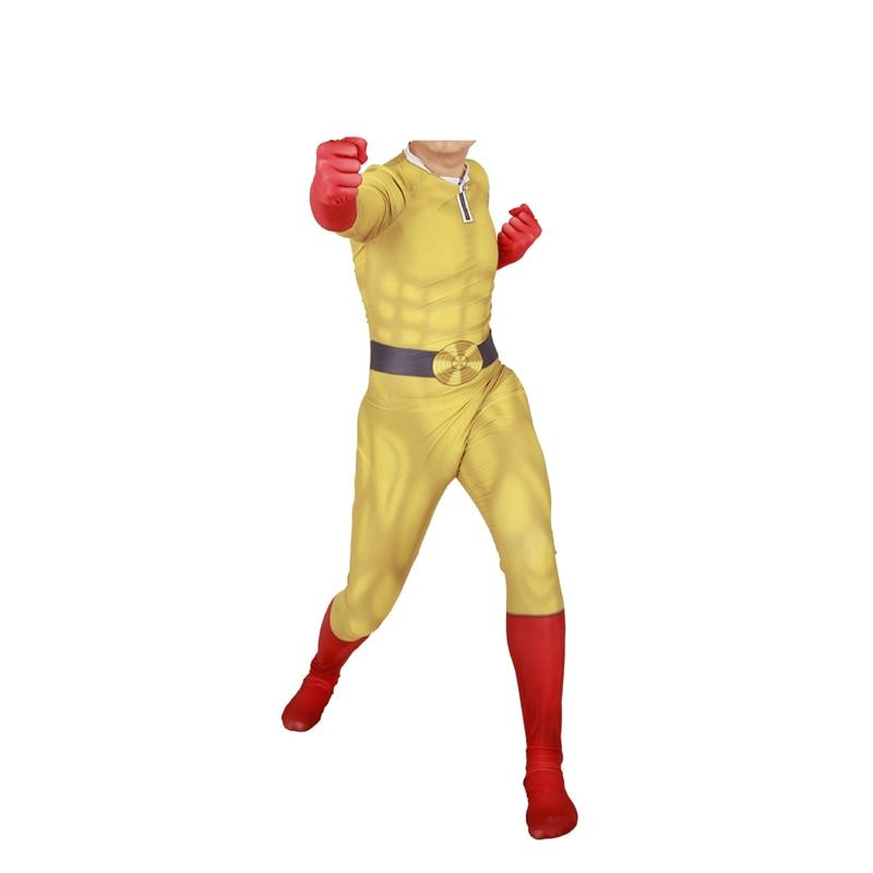 One Punch Man Cosplay Costume Adult JP Anime Saitama Superhero Halloween Suit