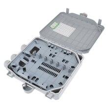 FTTH волоконно-оптическая оконечная коробка 12 ядер Открытый/внутренний волоконно-оптический разветвитель распределительная коробка Высокопрочный пластик Прочный