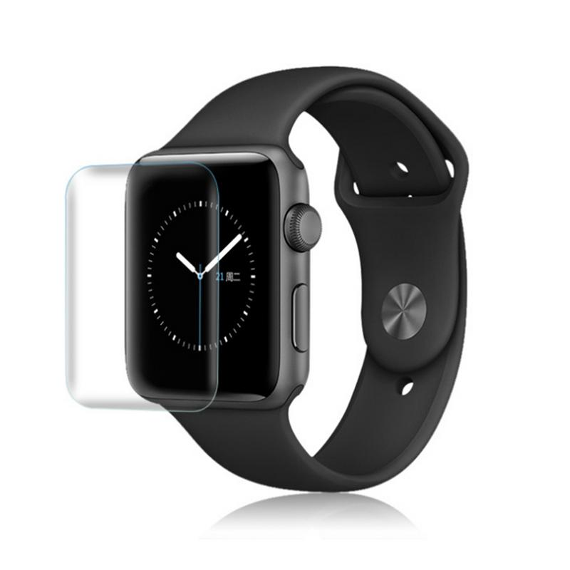 Image 4 - Soft Toughened Glass Film Durable Protector Anti fingerprint HD Touch Screen Patch Type Anterior Membrane For Apple Watch Series-in Screen Protectors from Consumer Electronics