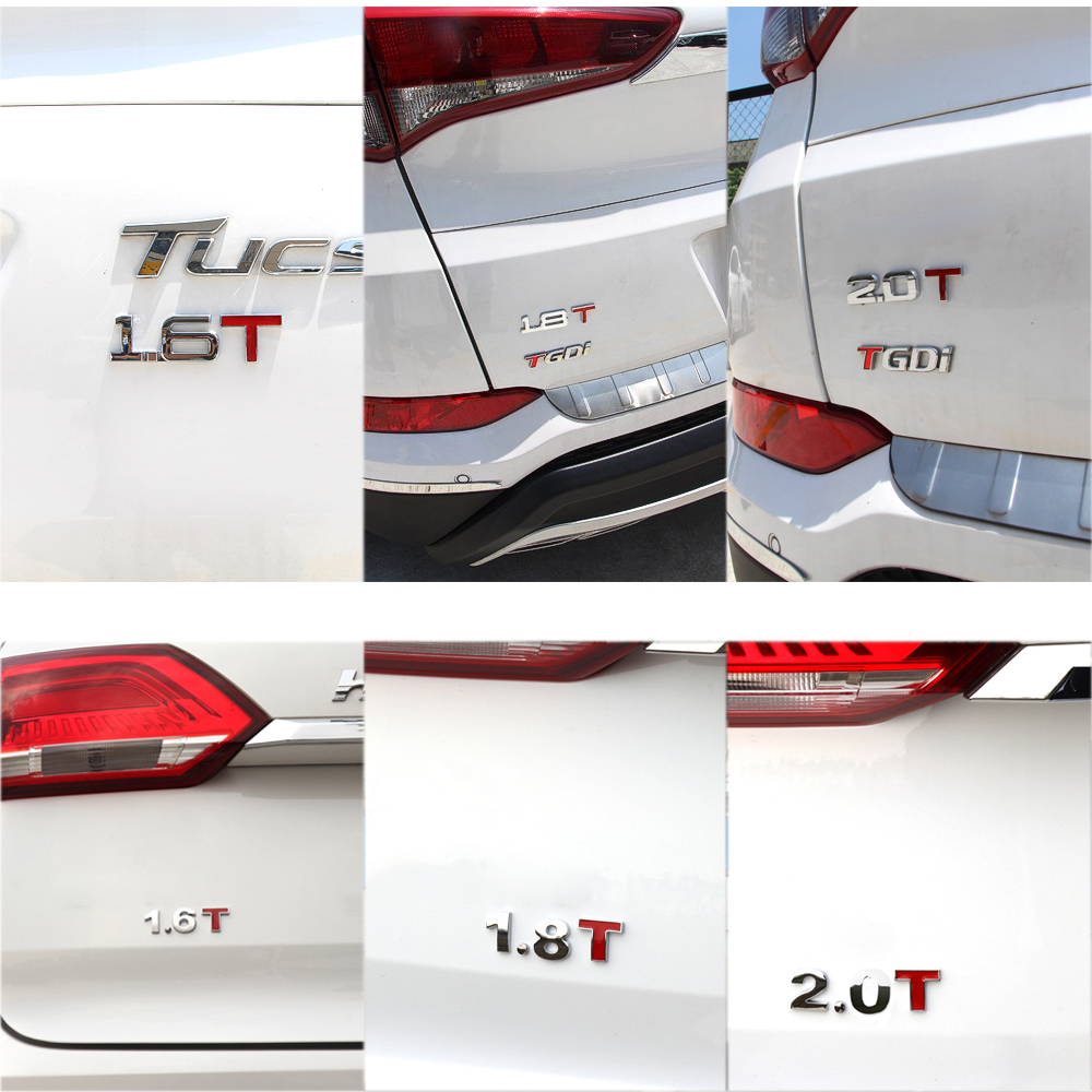 50pcs 3D Metal 1 6T 1 8T 2 0T Car Sticker Auto Emblem Badge Tail Stickers for Ford Fiesta Seat Ibiza Leon Fiat Punto Suzuki in Car Stickers from Automobiles Motorcycles